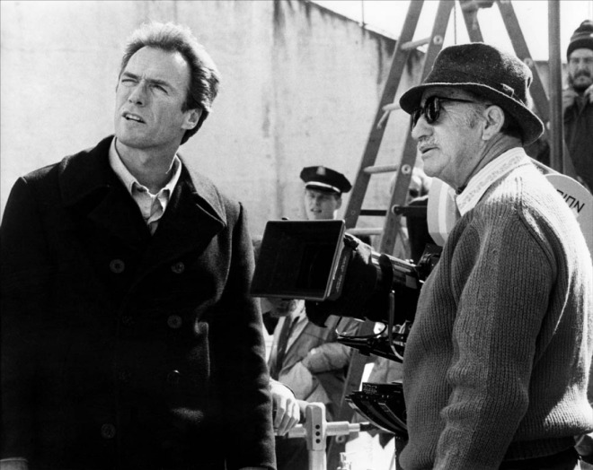 "Don Siegel ve Clint Eastwood ""Escape From Alcatraz"" filminde (1979)"