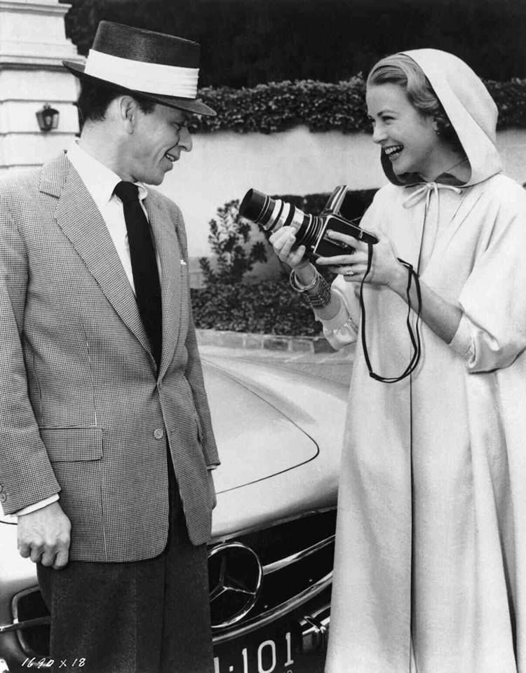 Frank Sinatra ve Grace Kelly High Society setinde 1956.