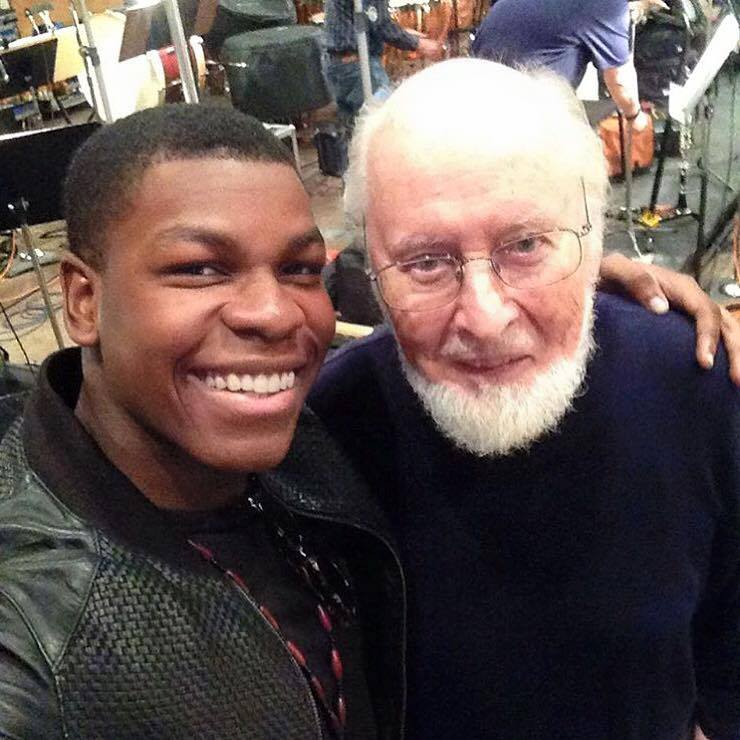 John Boyega ve besteci John Williams
