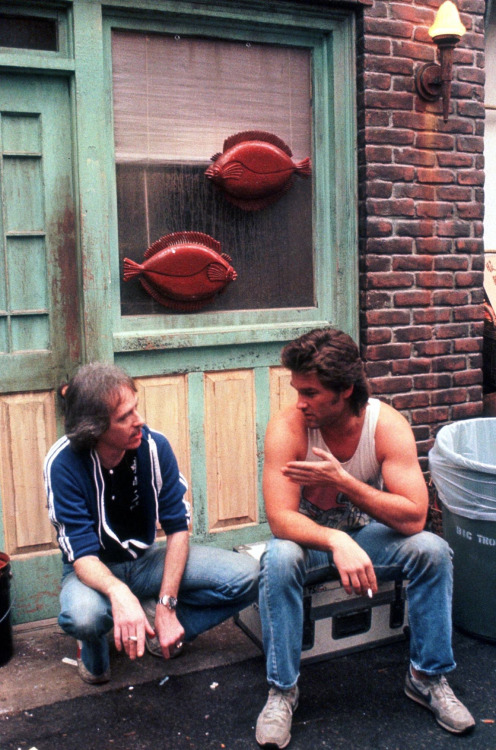 "John Carpenter & Kurt Russell ""BIG TROUBLE IN LITTLE CHINA"" setinde (1986)"