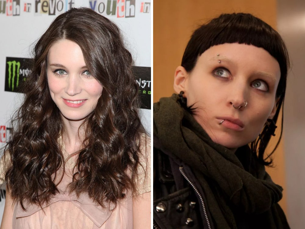 Lisbeth Salander Rolünde Rooney Mara (The Girl With the Dragon Tattoo)