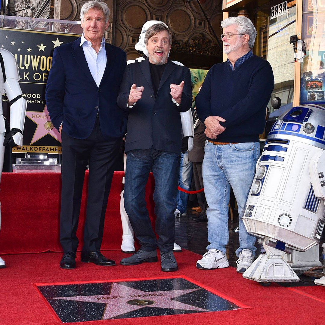 Mark Hamill, George Lucas, Harrison Ford