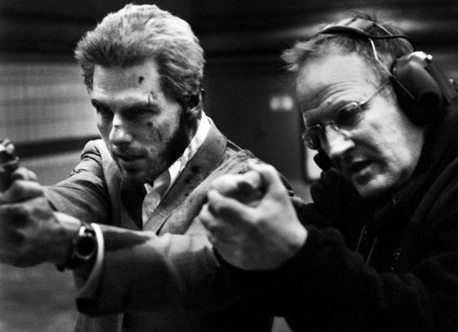 Michael Mann ve Tom Cruise 'Collateral' setinde (2004).