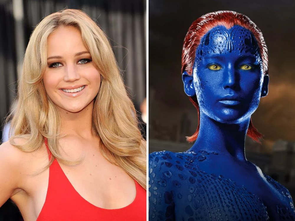 Mystique Rolünde Jennifer Lawrence (X-Men)