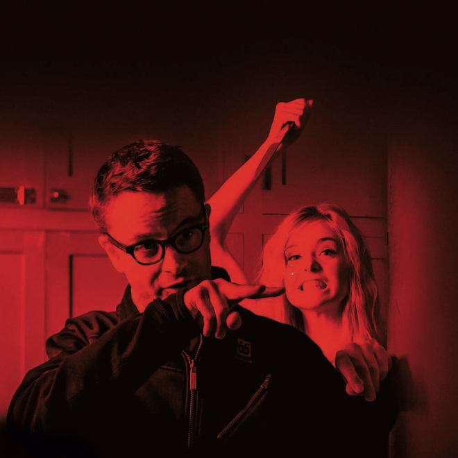 "Nicolas Winding Refn & Elle Fanning ""The Neon Demon"" setinde (2016)"