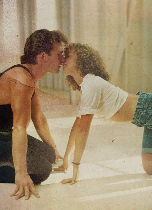 "Patrick Swayze ve Jennifer Grey ""Dirty Dancing"" setinde 1987"