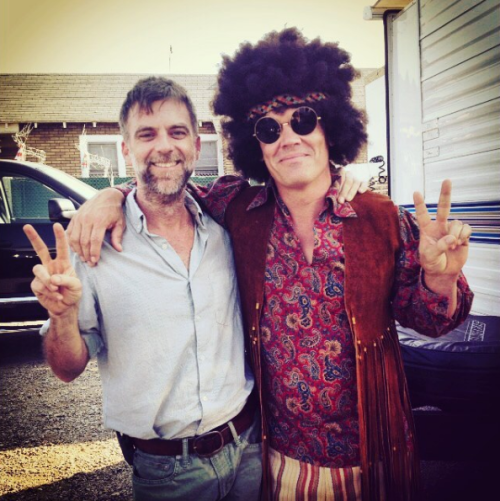 "Paul Thomas Anderson ve Josh Brolin ""Inherent Vice"" setinde (2014)"