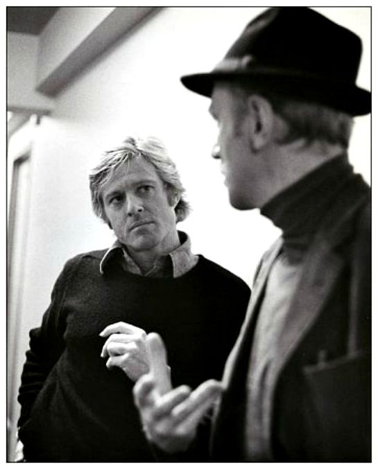 "Robert Redford ve Max von Sydow ""Three Days of the Condor"" setinde (1975)"