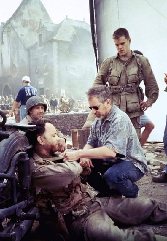 Steven Spielberg ve Tom Hanks  'Saving Private Ryan' (1998)
