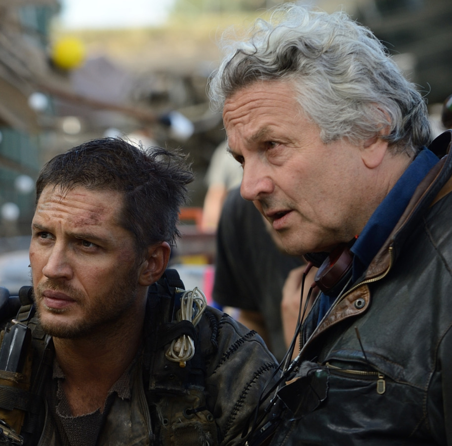 "Tom Hardy ve George Miller ""Mad Max Fury Road"" (2015)."